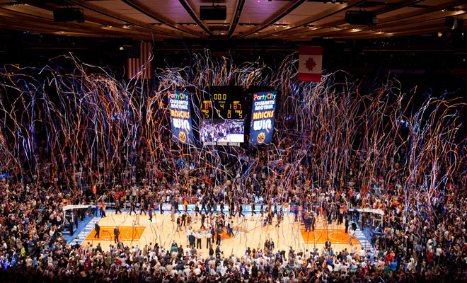 The 5 best arenas to experience an nba playoff game for Sports bars near madison square garden