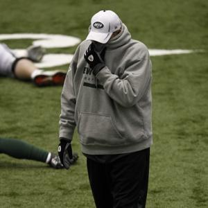 Jets Coach Rex Ryan needs to cover up his face after reiterating that his club, currently 26th in points allowed, is one of the leagues top five defenses. Photo: nypost.com