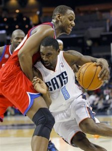 #8 Ben Gordon is fouled while driving the lane vs 76er Lavot Allen. Gordon is still fantasy relevant & should be rostered. Chuck Burton — AP Photo