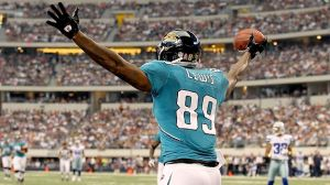 #89 Jaguars TE Marcedes Lewis along with EWR Justin Blackmon should be the main offensive threats for the lifeless Jaguars this week vs the Jets. Photo: jaguarsgab.com