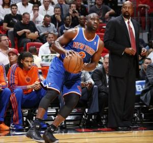 #2 PG Raymond Felton went off with 27 points, 7 assits, and 6 3-pointers in win over the Heat. Photo:  Greg Shamus/NBAE/Getty Images