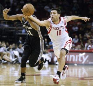 #10 Carlos Delfino should be rostered on teams where points & treys are needed. 14+ points in 7 straight! Photo: mysanantonio.com