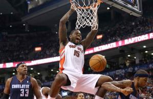 #15 Amir Johnson becomes our Must Add this week as he takes advantage of an injury- laden Raptors team. Photo: canado.com