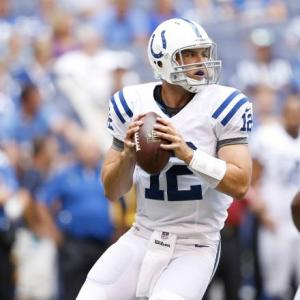 #12 Colts QB Andrew Luck should have plenty of it vs the Ravens and with coach Pagano back on the sidelines to pull off the upset. Photo: vegassharps.com
