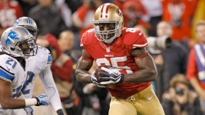 #85 TE Vernon Davis, who didn't have one of his best seasons, always shines in big games. Photo: cbcsports.com