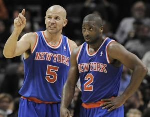 #5 Jason Kidd is looking forward to getting some much needed rest once #2 Raymond Felton returns to action. Photo: newsday.com