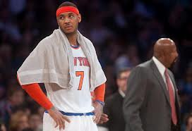 #7 Carmelo Anthony and coach Mike Woodson have 14 of the team's 32 Technical fouls. Photo: nyctc.com