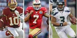 RGIII, Colin Kaepernick and Russell Wilson are part of the new breed of QB that has given the Falcons fits. Photo: nfl.com
