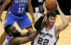 #22 Tiago Splitter is one of the highest ranked players and is still available in 2/3 of most leagues... Photo: nytimes.com