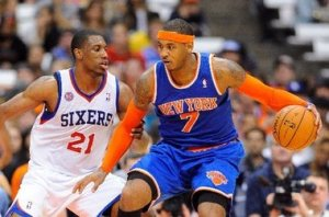 #& Carmelo Anthony, although one of the league's purest scorers, still needs help on offense & maybe a few less ISO's. Photo: Rich Barnes/US Presswire