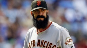 Currently out of a job, former Giants closer Brian Wilson faces an uphill climb coming off Tommy John surgery. Photo Jerry Lai-USA TODAY Sports