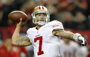 Niners QB Colin Kaepernick made the record books in Super Bowl XLVIII. Photo: (Patrick Tehan/Bay Area News Group)