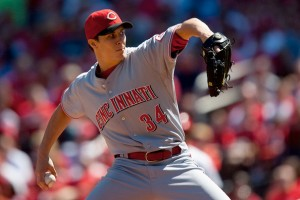 #34 Homer Bailey is set to have a sleeper-type year off of his outstanding Sept. & post -season last year. Photo: Dilip Vishwanat/Getty Images North America