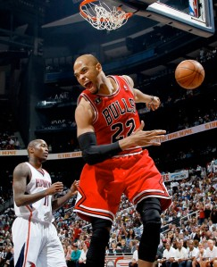 #22 Taj Gibson went off vs the Hawks on Sat. night pouring in 19 while grabbing 19 boards. A Must Add this week! Photo: sports.espn.com