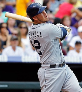 With all of his raw talent, #12 Yasmani Grandal will go virtuallu undrafted due to 50-game suspension. Photo: David Zalubowsk/AP