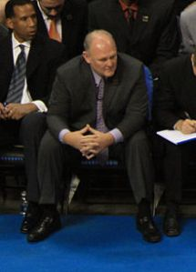 Nuggets coach George Karl is also dealing with the loss of Danilo Gallinari who tore his ACL on April 5, 2012. Photo: wikopedia