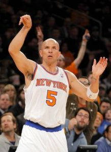 #5 Jason Kidd was a key factor in Saturday's game one Knicks win over the Celtics. Photo: Jim McIsaac