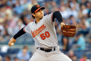 #50 SP Miguel Gonzalez is being touted as a 'baby sleeper' in just his 2nd season in the majors. Photo: Jim McIsaac/Getty Images North America