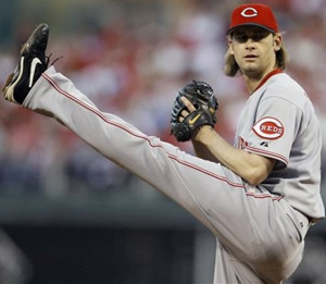 #61 Bronson Arroyo with the highest leg kick in all of baseball is coming on strong & worthy of a pickup in most leagues. Photo: associated press