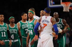 The Knicks need to avoid scenes like this in their remaining game(s). Photo: Gettyimages
