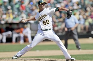 #50 closer Grant Balfour has been immuned to blown saves for over a year. Photo: associated press