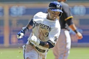 #9 Brewers SS Jean Segura has not batted less than .333 at any point this season through 61 games. Photo: Getty Images