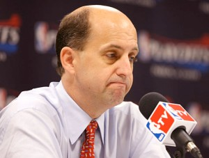 Highly popular Ex-Knicks coach Jeff Van Gundy abruptly left the club after just 19 games in the beginning of the '01-'02 season. Photo AP
