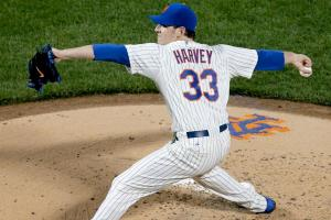 #33 Mets pitching stud Matt Harvey still holds the record for the fastest ball thrown this season. Photo: RAY STUBBLEBINE/REUTER