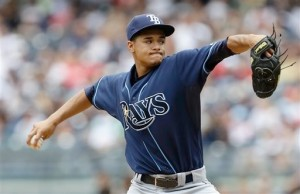 Rays rookie SP Chris Archer in the 1st inning of Saturday's game was another pitcher who dominated the Yankees with a complete game AP Photo/Frank Franklin II. Photo: