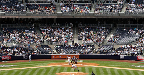This is the way the new Yankee Stadium looks on any given night this season. AP