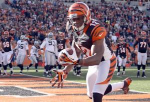 #12 Mohamed Sanu could become the compliment to A.J. Green that the Bengals have been looking & John Grieshop/Getty Images for.