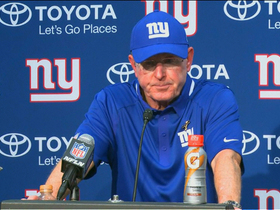 "Giants coach Tom Coughlin at the press conference after the embarrassing loss to the Panthers said, ""He expected more from this team.."" Photo: Rueters"