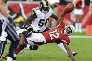 Cardinals WR Andre Brown had more reciving yards than Larry Fitzgerald in week 1 vs the Rams. Norm Hall: