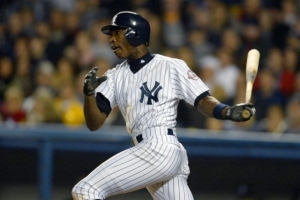#12 Alfonso Soriano tees off on one of his 11 August home runs. Photo: Rueters