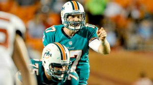 #17 QB Ryan Tannehill could fill in nicely for bye weeks of Cam Newton and Aaron Rodgers this weekend.  Charles Clay and Brian Hartline bring him the necessary ammo he needs to keep the Fish undefeated. Photo: USPRESSWIRE