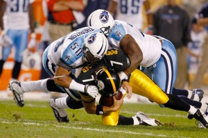 The Titans sacking Big Ben in one of their 5  Scott Boehm/Getty Images North America in Week 1.