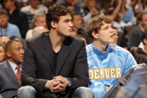 Danillo Gallinari will see more bench time than court time this season as he continues to recover from Knee Doug Pensinger/Getty Images North America.
