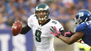 #9 QB Nick Foles filled in admirably for Michael Vick and collect 16 fantasy points in a limited role vs the Giants on Sunday Oct. 6, 2013. Photo: ESPN