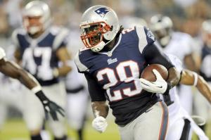 #29 RB LeGarrette Blount is coming off a decent fantasy week and should be line for some goal line opportunities this week. You'll remember that Blount rushed for 1006 yards in his rookie season so he's got the wheels