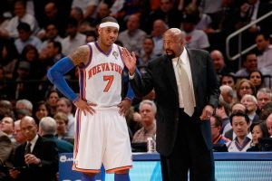 Coach Mike Woodson shoulders much of the blame for the loss to the Wizards on Dec. 17, 2013 for not calling a 'timely' time-out with 6.9 seconds remaining in the game. Photo Getty Images
