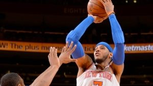 Carmelo Anthony goes up for a jumper in an historic night at Madison Square Garden, January 24, Nathaniel S. Butler/NBAE/Getty Images. Photo: