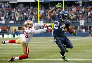 #24 Marshawn Lynch will be an intregal part of Seattle's game plan this Sunday. Photo: Seahawks.com