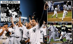 "#2 Derek Jeter was dubbed as ""Mr. November"" following his home run on Nov. 1, 2001 vs the Arizona Diamondbacks. Photo: N.Y. Daily News"