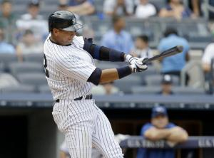 Yankees 3B Alex Rodriguez, currently serving a one-year suspension, never did what his nephew just accomplished. Photo: AP