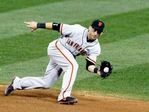 #19 Sure-handed 2B Marco Scutaro will need to get into game shape after missing most of Spring training due to back issues. Photo: AP