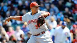 Alfredo Simon will have a two-start week next week and is must add in mixed leagues. Photo: Tom Banks/USA Today Sports