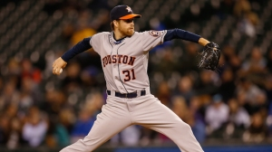 #31 Collin McHugh, although lacking the attention that Dallas Keuchel is getting, still deserves to be considerd in most Otto Greule Jr/Getty Images.