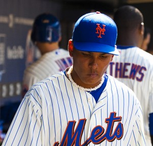 Ruben Tejada, who hasn't had a hit in the last 10 days & who's batting just .183 on the season, will probably be replaced by 22 yr. old Wilmer Flores. Photo: AP