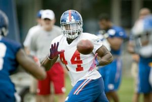 #44 Andre Williams, with David Wilson retiring, will become a viable backup and handcuff to Rashad Jennings says the Newsday / J. Conrad Williams, Jr. Photo: