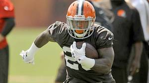 #20 Terrance West, now the only real challenge to starter Ben Tate, will make a formidable backup and see his shares of carries in the upcoming season. Photo: USATodaySI